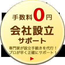 手数料0円 会社設立サポート 専門家が設立手続きを代行!プロが早く正確にサポート!
